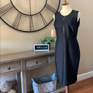Calvin Klein sleeveless black dress, size 10